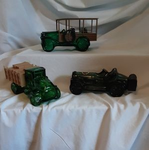 3 Avon after shave car & 2 truck bottles (empty)